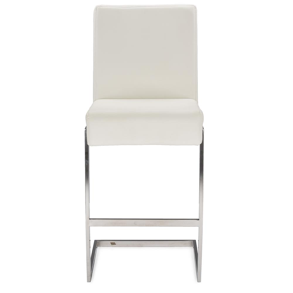 Baxton Studio Toulan White Faux Leather Upholstered 2