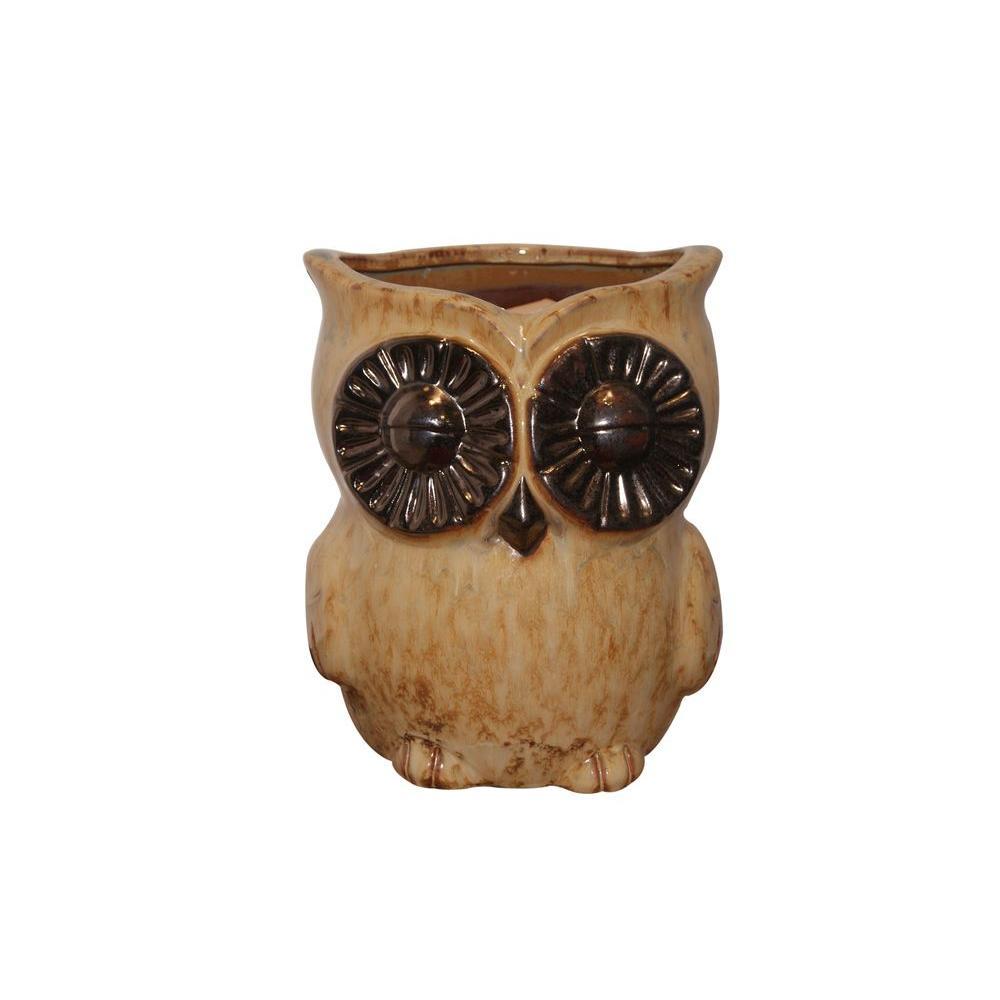 Owl Ceramic Planter