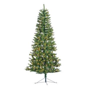 indoor pre lit glenwood spruce artificial christmas corner tree with 300 ul - Corner Christmas Tree