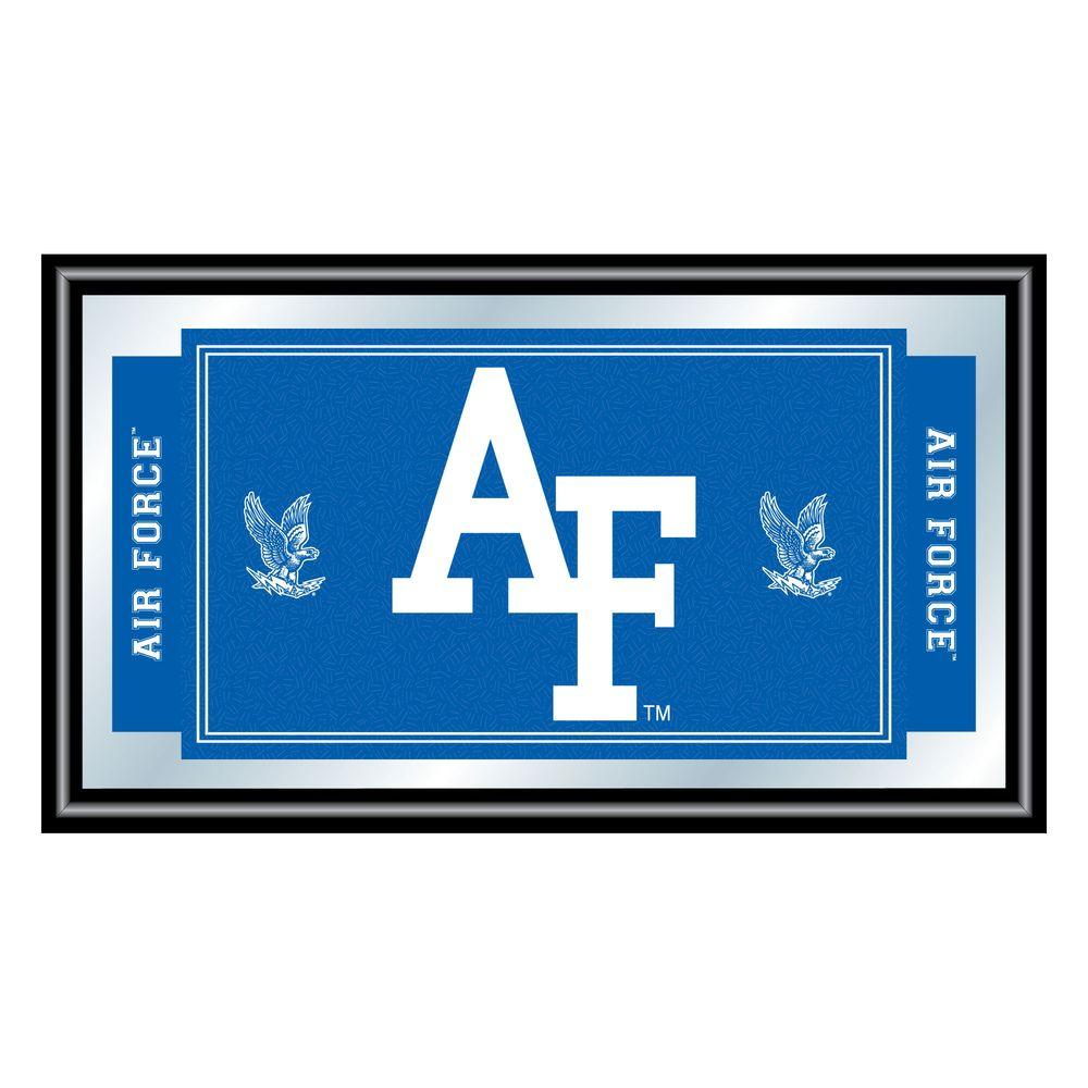 Air Force Falcons 15 in. x 26 in. Black Wood Framed