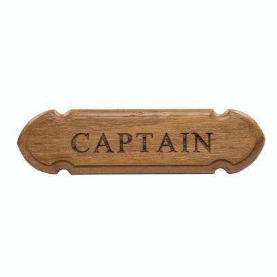 Teak Captain Name Plate