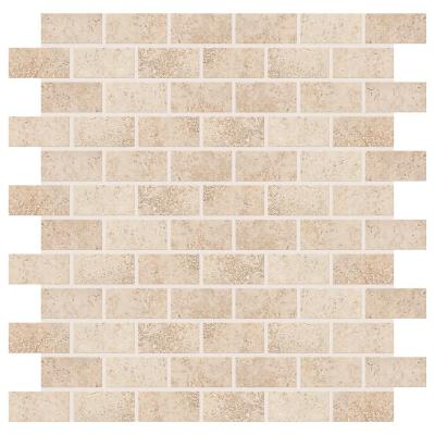 Briton Bone 12 in. x 12 in. x 8 mm Ceramic Mosaic Floor and Wall Tile (1 sq. ft. / piece)