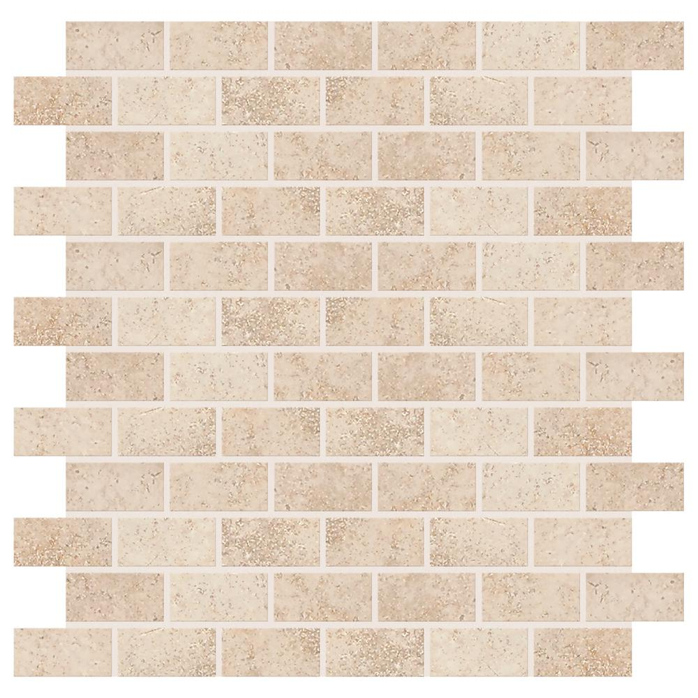 Daltile Briton Bone 12 In X 8 Mm Ceramic Mosaic Tile