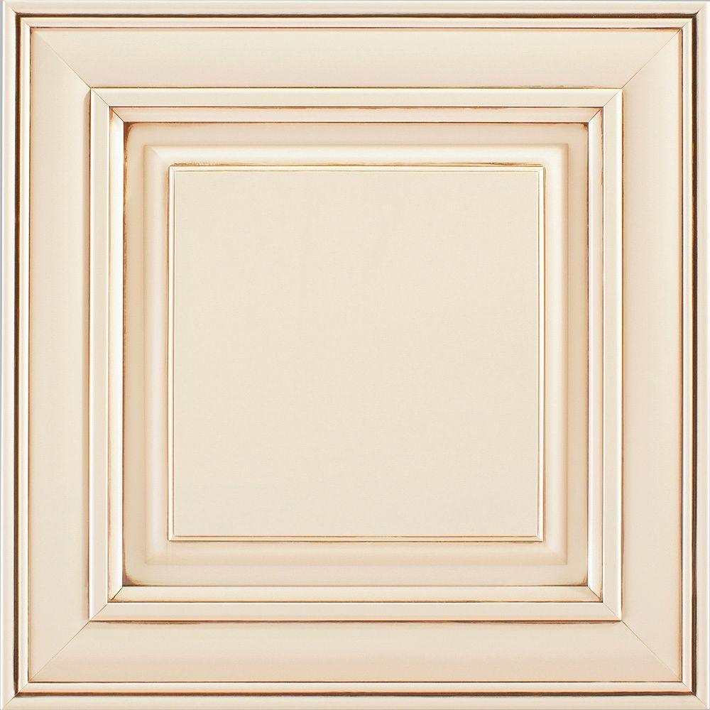 American Woodmark 14 9 16x14 1 2 In Cabinet Door Sample Savannah Painted Hazelnut Glaze