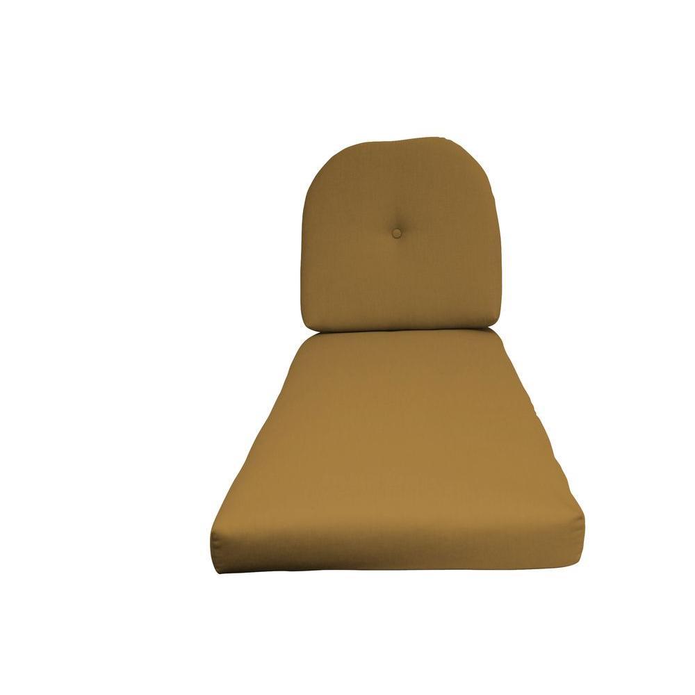 Paradise Cushions Sunbrella Dijon 2-Piece Outdoor Chaise Lounge Cushion-DISCONTINUED