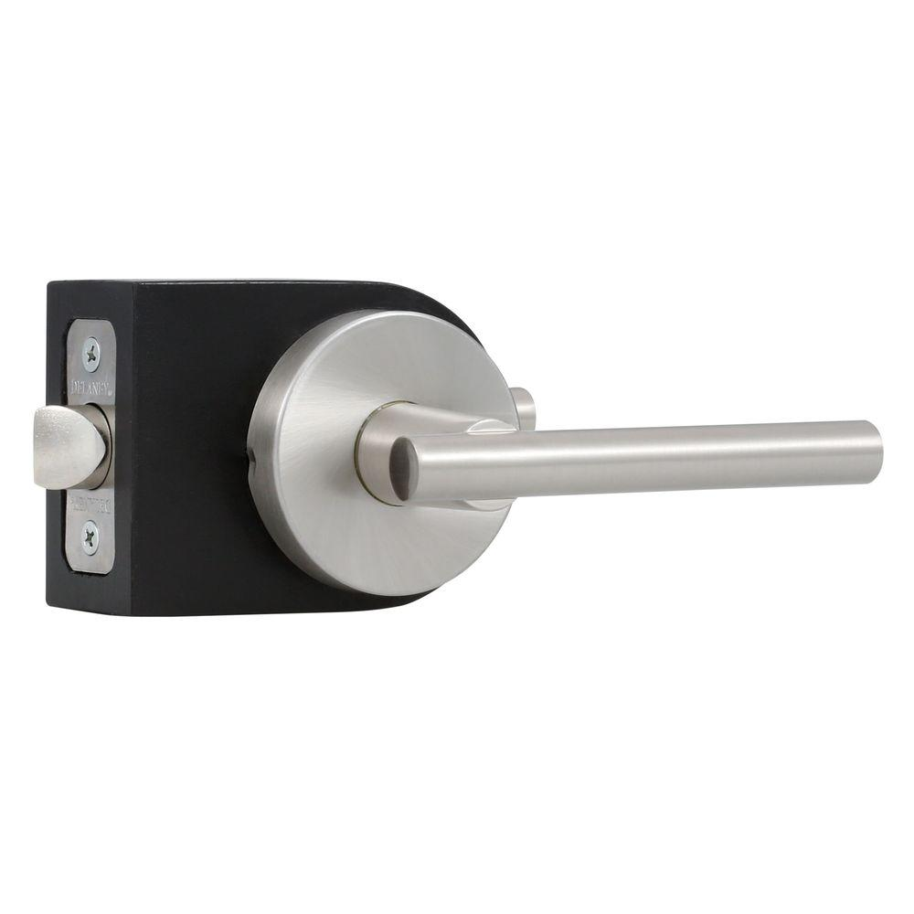 Delaney Contemporary Collection Cira Satin Nickel Hall and Closet Lever