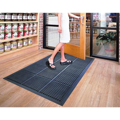 A1HC Glossy Bubbles Top 36 in. x 60 in. Cushion-Ease Anti-Fatigue Rubber Mat