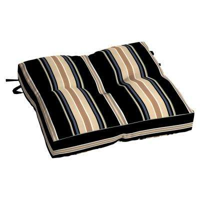 Nantucket 18.5 x 17 Outdoor Chair Cushion in Standard Sky Stripe