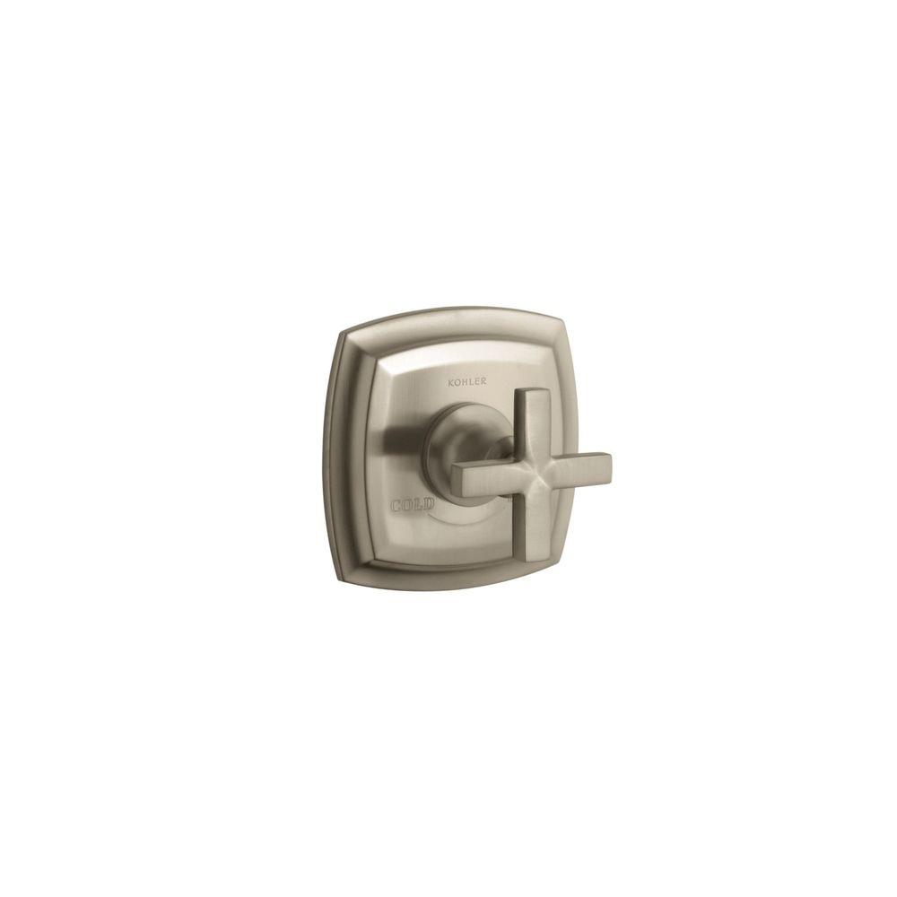 KOHLER Margaux 1-Handle Thermostatic Valve Trim Kit Vibrant Brushed Bronze with Cross Handle (Valve Not Included)