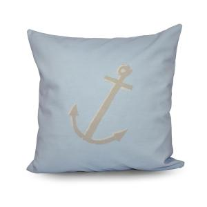 16 inch x 16 inch Decorative Anchor Pillow in Oatmeal by