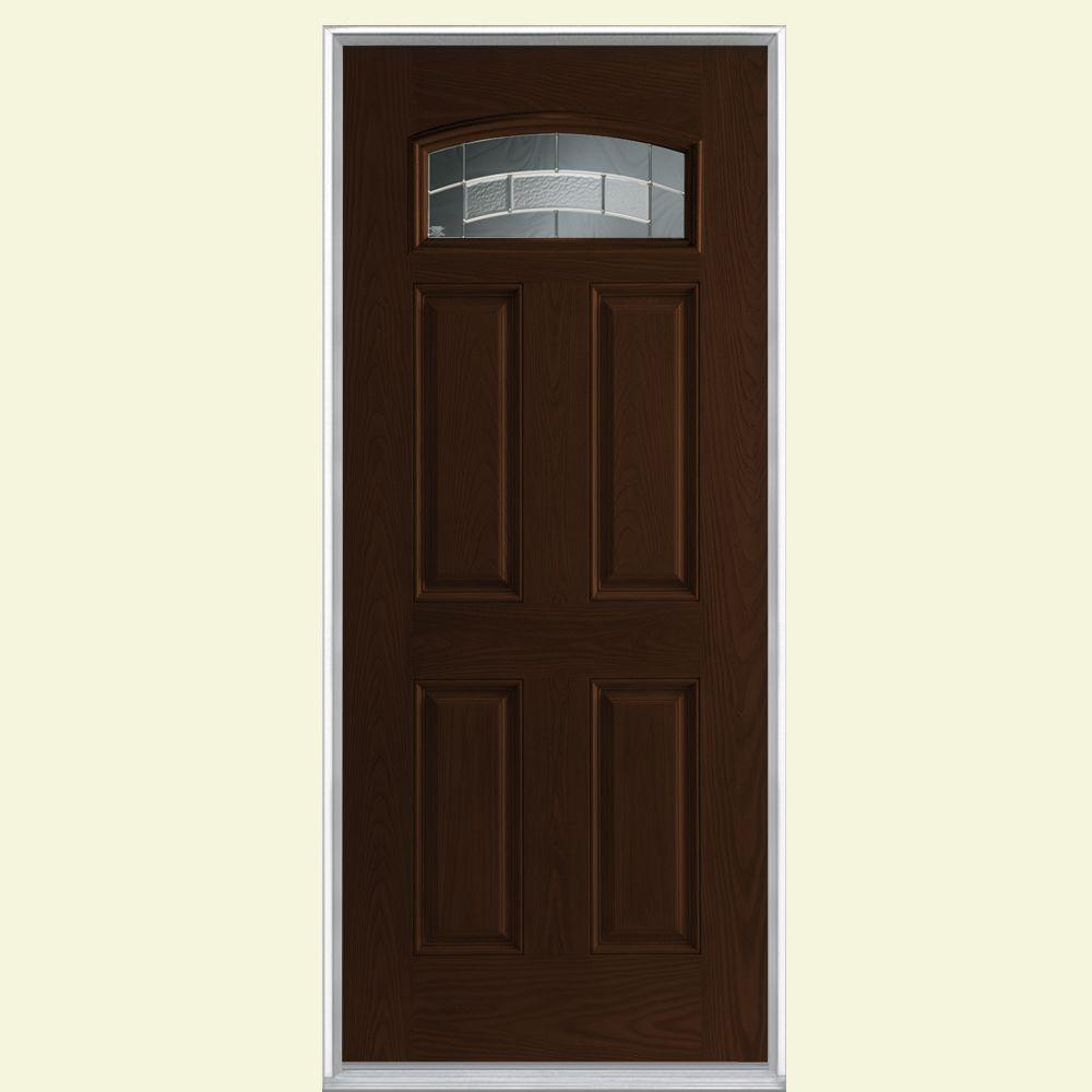 Exterior Doors At Home Depot: Masonite 36 In. X 80 In. Croxley Camber Fan Lite Right