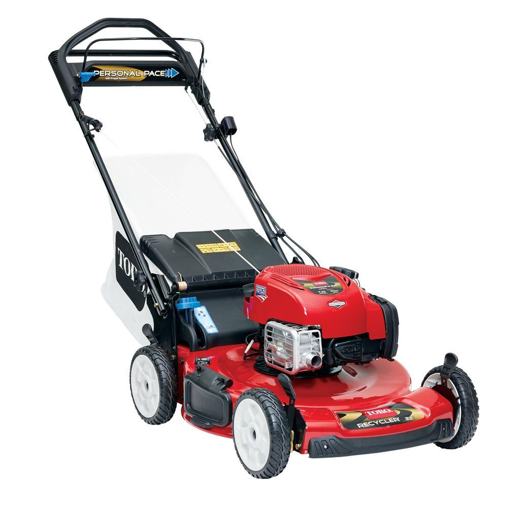 toro recycler 22 in personal pace variable speed electric start gas self propelled mower with. Black Bedroom Furniture Sets. Home Design Ideas