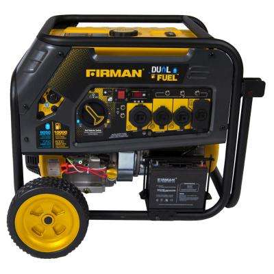 Hybrid 8,000-Watt Dual Fuel Powered Electric Start Portable Generator with FIRMAN Engine
