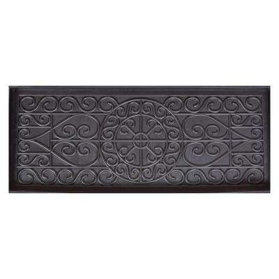 Black 14 in. x 34 in. x 2 in. Rubber Boot Tray