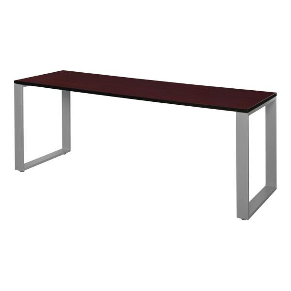 Regency Structure 60 in. x 24 in. Mahogany/Grey Training Table STT6024MHGY