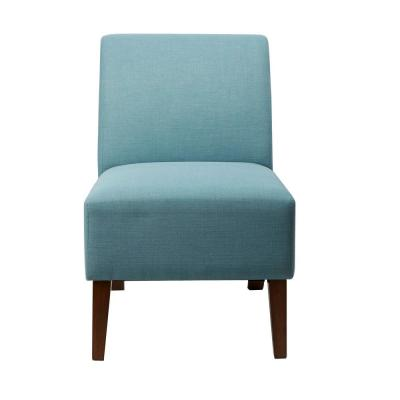 Lucas Capri Blue Upholstered Armless Occasional Chair