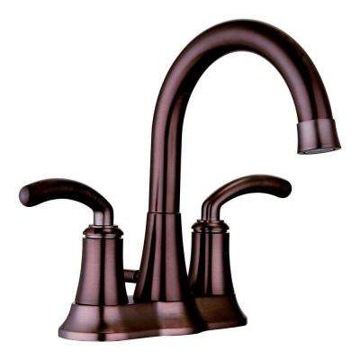 4 in. Centerset 2-Handle Deck-Mount Bathroom Faucet in Oil Rubbed Bronze with Pop-Up Drain