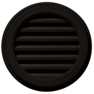 22 in. Round Gable Vent in Black