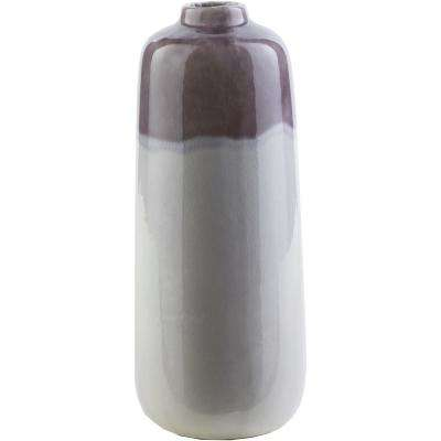 Yinao 12.8 in. Purple Ceramic Decorative Vase