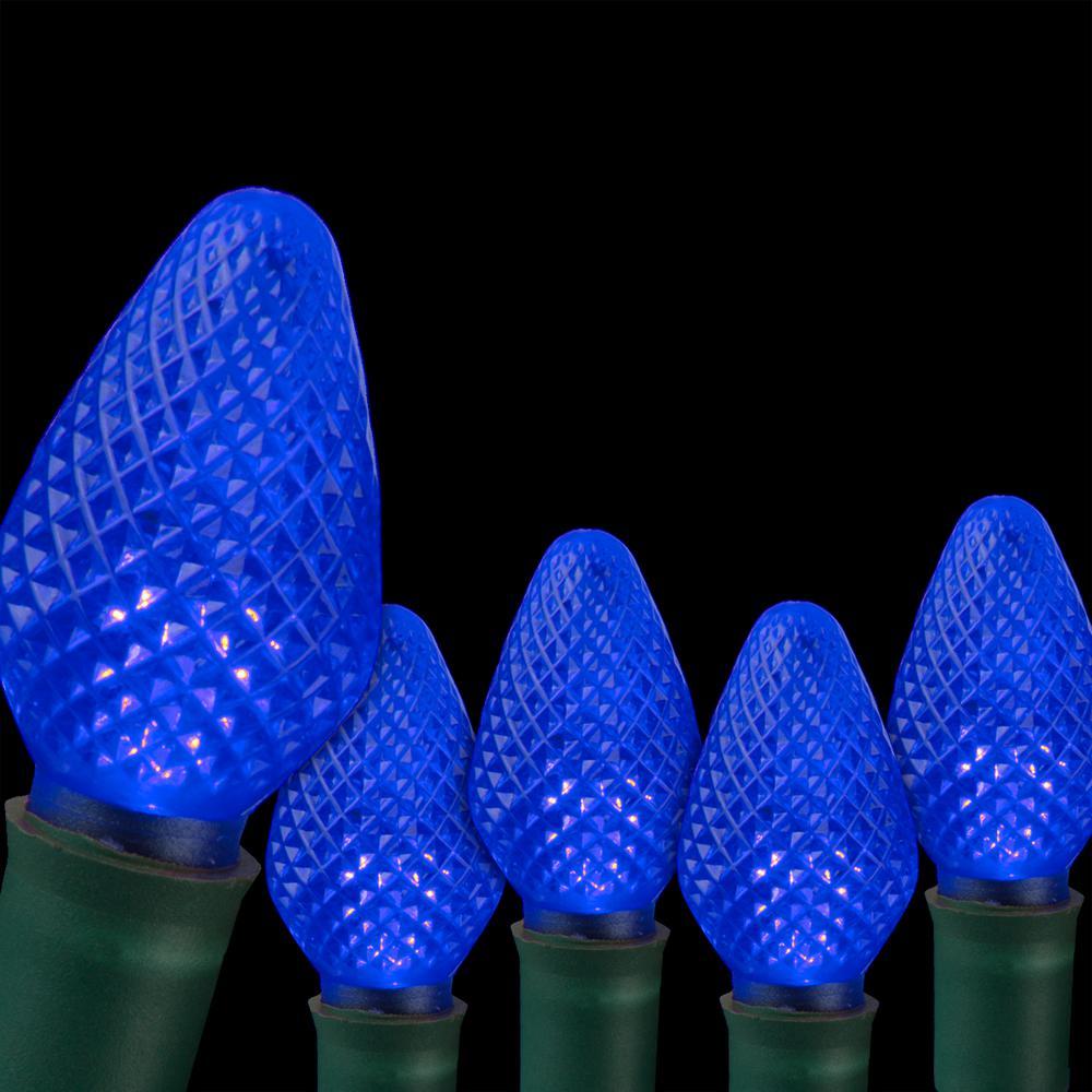 SuperBright 16 ft. 25-Light LED Blue C7 String Light Set