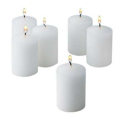 White Unscented Votive Candles (Set of 36)