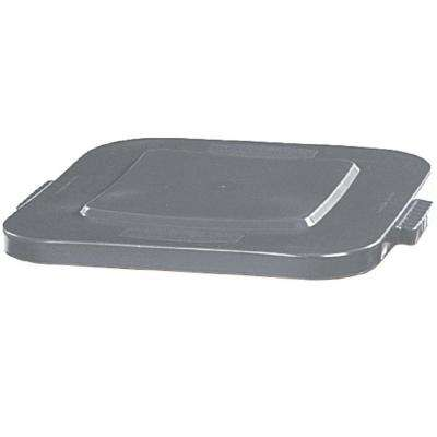 BRUTE 40 Gal. Gray Square Trash Can Lid