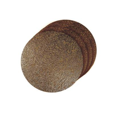Lacey Bronze Metallic Scribble Design Round Placemats (Set of 4)