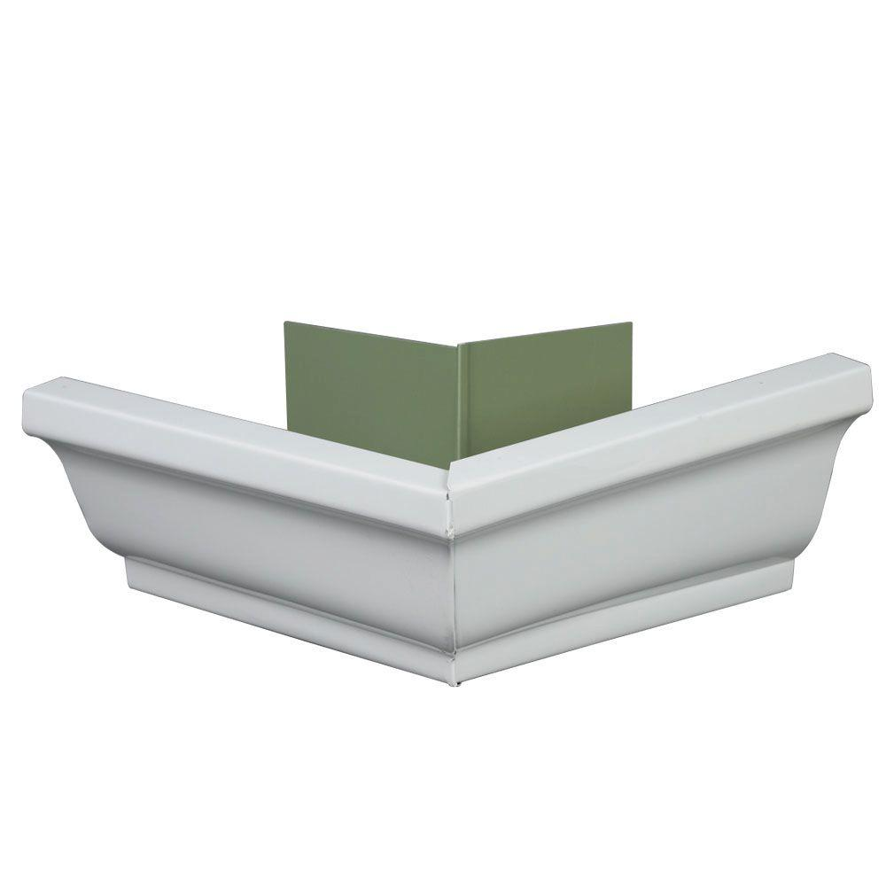 Amerimax Home Products 5 in. K-Style Aluminum Outside Gutter Mitre
