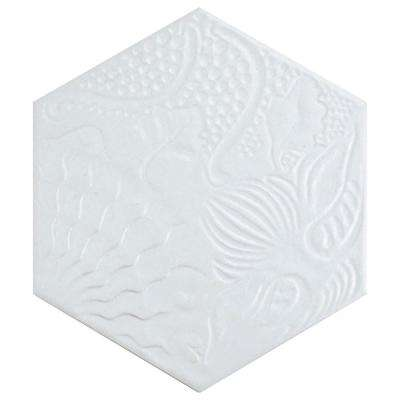 Gaudi Hex White 8-5/8 in. x 9-7/8 in. Porcelain Floor and Wall Tile (11.19 sq. ft. / case)