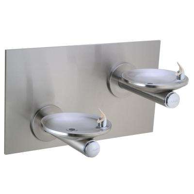 SwirlFlo Bi-Level Wall Mounted Reverse Drinking Fountain in Stainless Steel