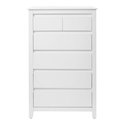 Alanis White Wood 6 Drawer Chest of Drawers (31.2 in W. X 49.3 in H.)