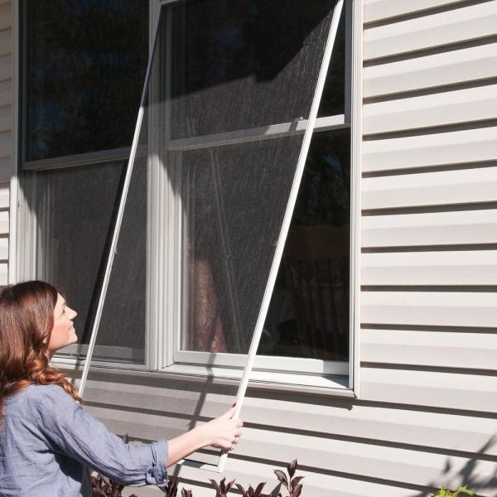 Pet Resistant Charcoal Window Door Screen Replacement  Heavy Duty 36 IN X 84