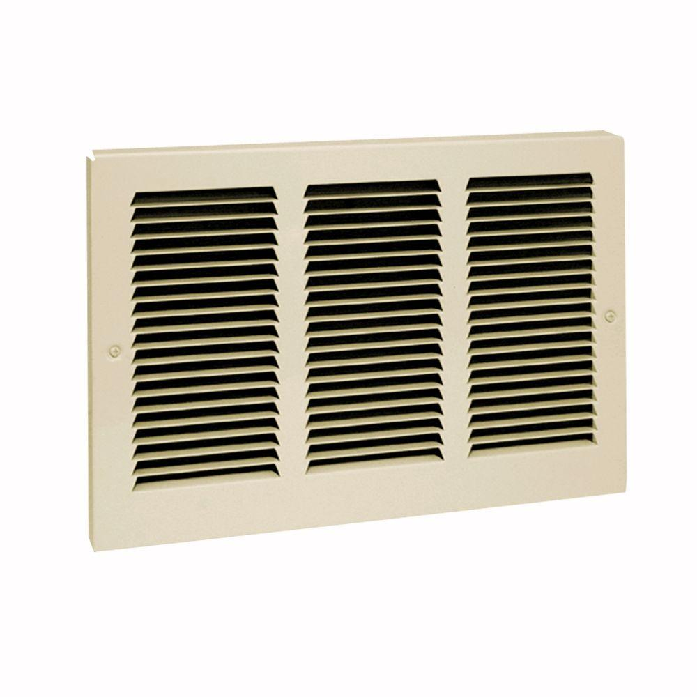 Cadet Com-Pak Plus/Max 12 in. W x 9 in. H Horizontal Mount Replacement Grille Kit in Almond