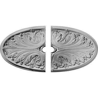 24-3/4 in. W x 12-1/2 in. H x 1-3/4 in. P Madrid Ceiling Medallion (2-Piece)