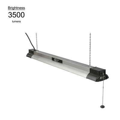 50 Watt, 3500 Lumens, 4000K Bright White, 40 in. White Integrated LED Shoplight with Bluetooth Speakers