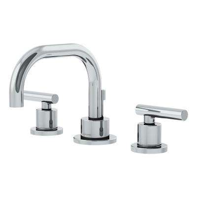 Dia 8 in. Widespread 2-Handle Bathroom Faucet with Pop-Up Drain in Satin Nickel