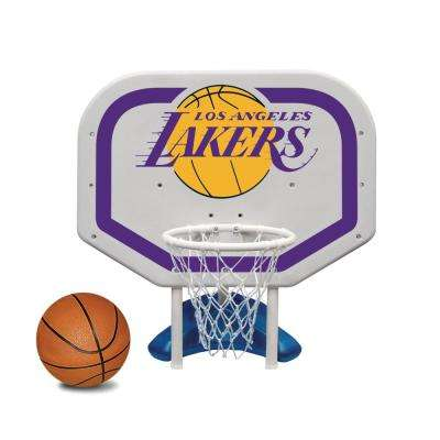 Los Angeles Lakers NBA Pro Rebounder Swimming Pool Basketball Game