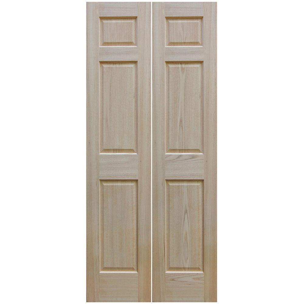 Nice Null 30 In. X 80 In. Unfinished 6 Panel Solid Core Red Oak
