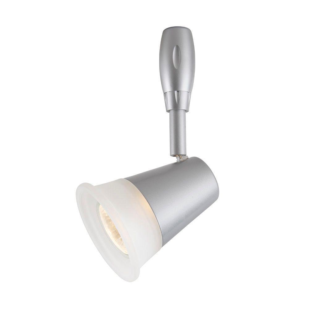 Hampton Bay Led Light Blinking: Flexible Track Lighting Head Frosted Glass Shade 120 Volt