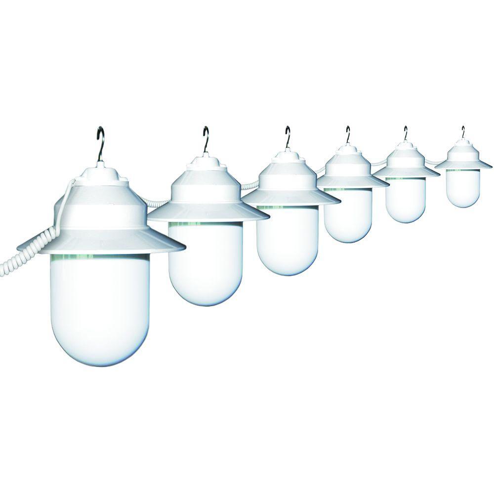 Polymer 6-Light Outdoor Old Savannah White String Lights
