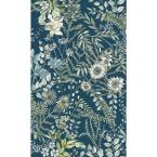 Full Bloom Navy Floral Paper Strippable Roll (Covers 56.4 sq. ft.)