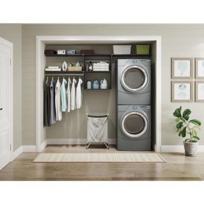 Style+ 14.59 in. D x 25.12 in. W x 31.28 in. H Noir Wood Closet System Hanging Tower