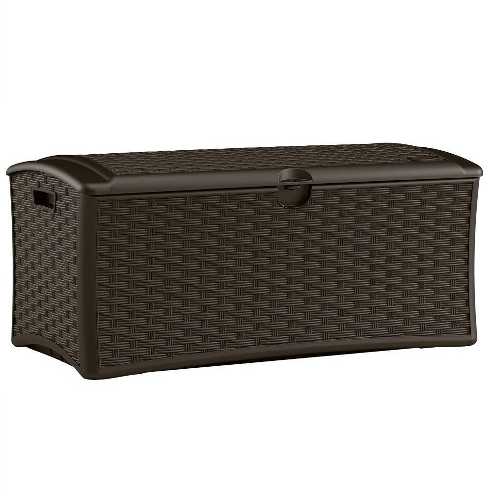 72 Gal. Resin Wicker Deck Box
