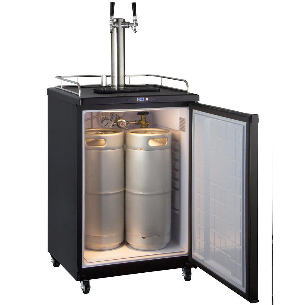 Kegco Commercial Grade Digital Double Tap Full Size Beer Keg Dispenser With Dispense Kit Z163b 2 The Home Depot