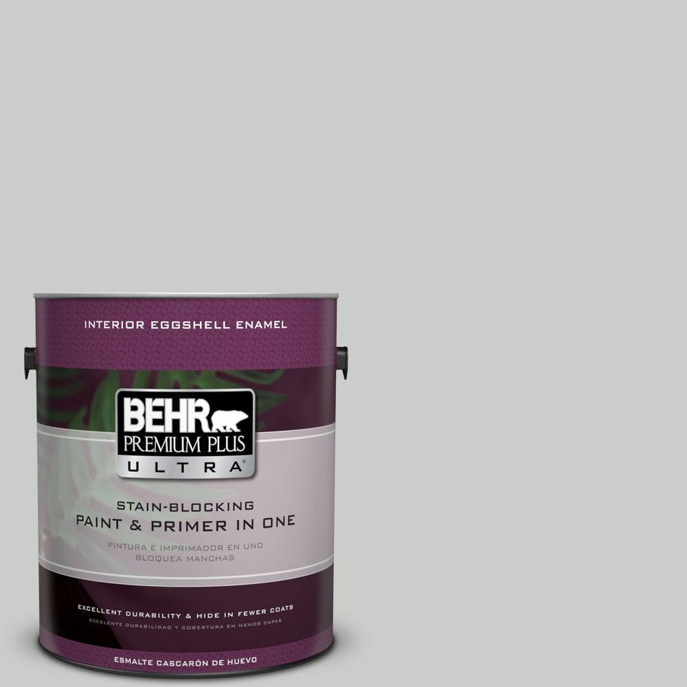 BEHR Premium Plus Ultra 1-gal. #PWL-89 Silver Setting Eggshell Enamel Interior Paint