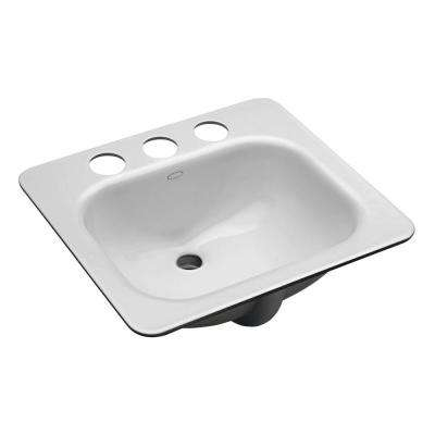 Tahoe Undermount Cast Iron Bathroom Sink in White with Overflow Drain