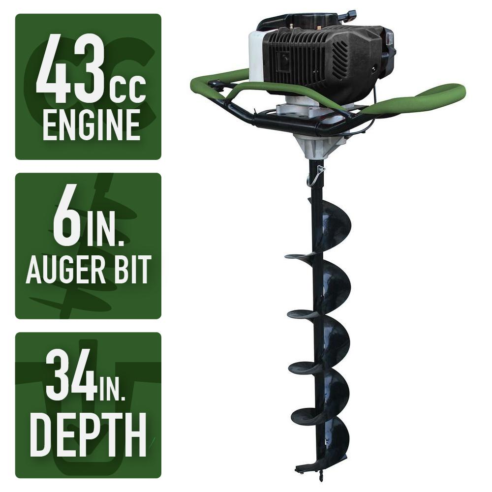 Sportsman Earth Series Gas Powered Auger 6 Inch