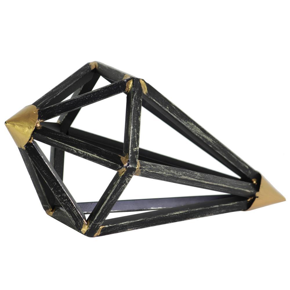 11.00 in. H Sculpture Decorative Sculpture in Black Tarnished