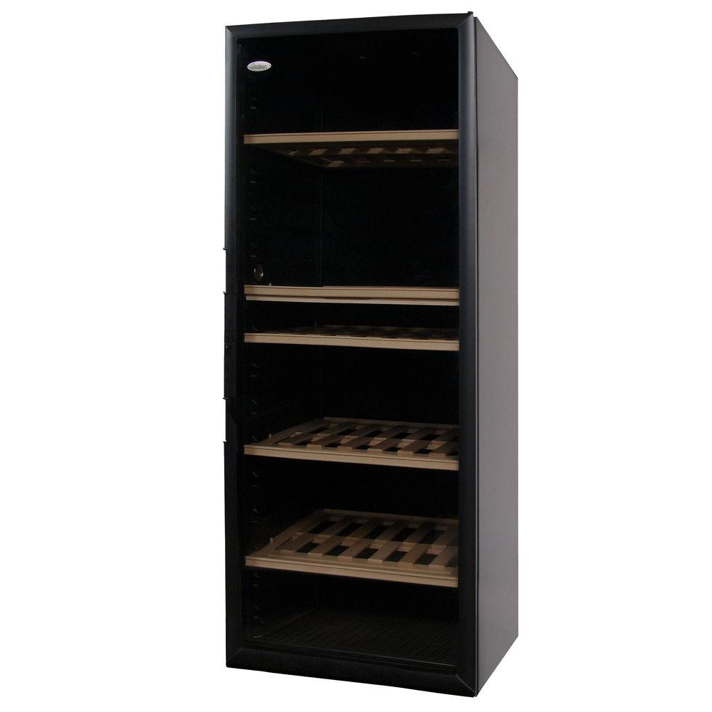 Vinotemp VinoCellier 267 Bottle Black Glass Door Wine Cabinet