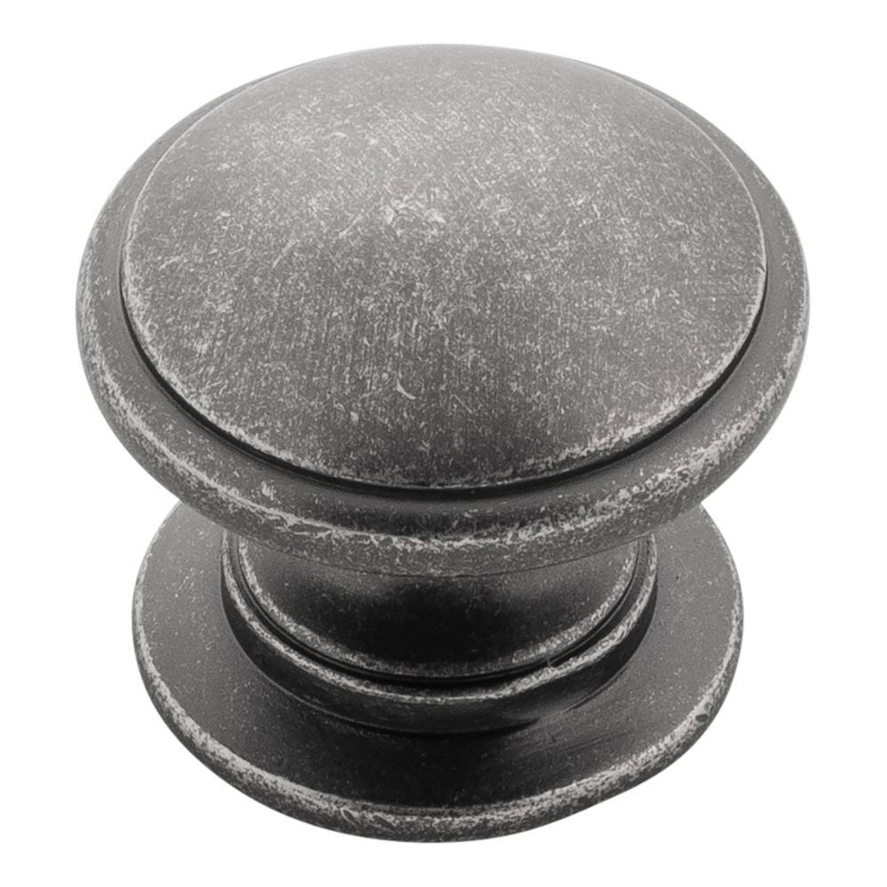 Williamsburg 1-1/4 in. Black Nickel Vibed Cabinet Knob